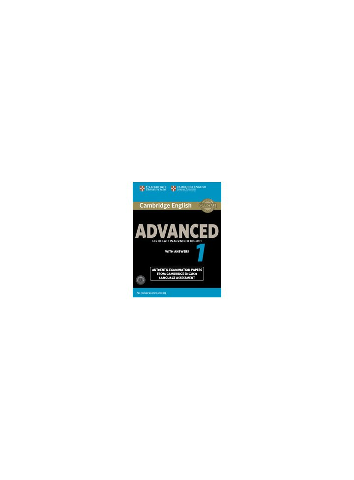 Cambridge English Advanced 1 For Revised Exam From 2015 Student S