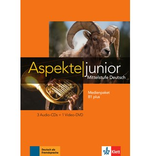 Aspekte junior B1 plus, Medienpaket (3 Audio-CDs + Video-DVD)