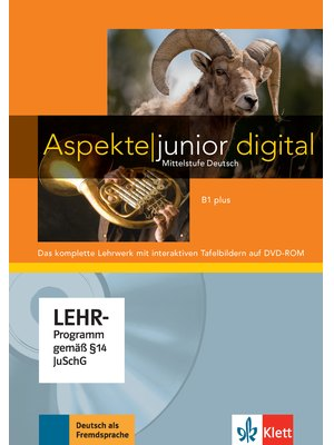 Aspekte junior B1 plus, Lehrwerk digital mit interaktiven Tafelbildern