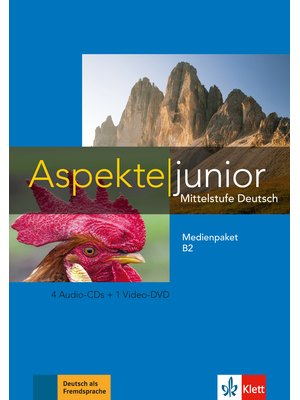 Aspekte junior B2, Medienpaket (4 Audio-CDs + Video-DVD)