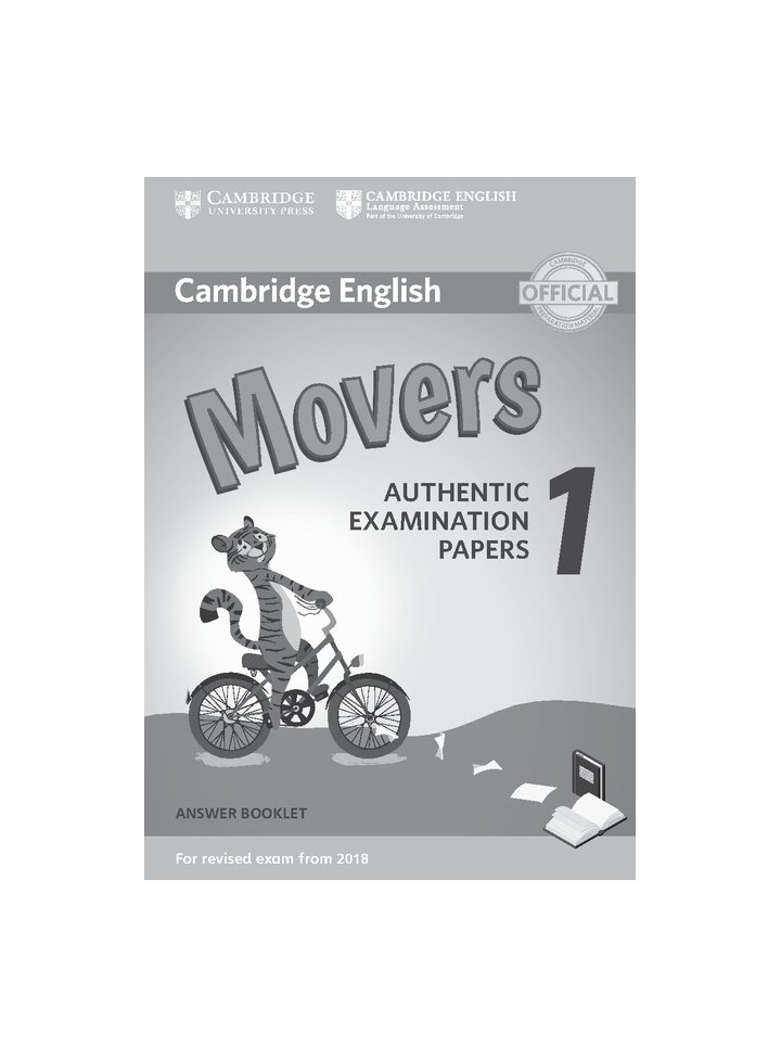cambridge english movers 1 for revised exam from 2018. Black Bedroom Furniture Sets. Home Design Ideas