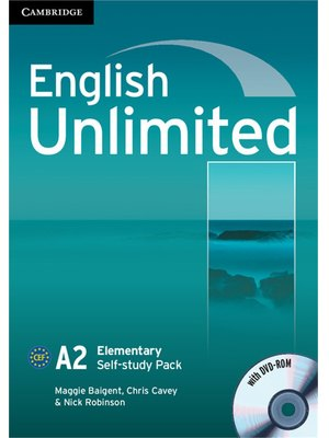 English Unlimited Elementary Self-study Pack (Workbook with DVD-ROM)